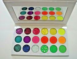 Pressed Glitter and Bright  Eyeshadow Palette 18 Colors Amof