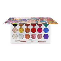 Pressed Glitter Eyeshadow Palette 18 Colors Candice Cosmetic