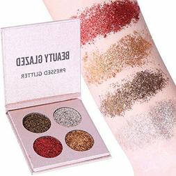 BEAUTY GLAZED  4 ULTRA GLITTER EYESHADOW PALETTES
