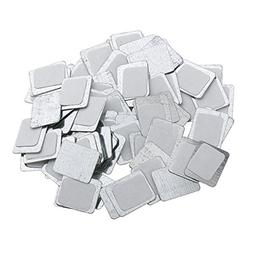 Baoblaze lot of 100 Round/ Square 25/15mm Magnets Empty Eyes