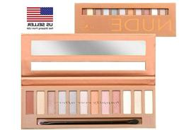 Italia Deluxe Silky Eyeshadow 12 Color Palette - Nude *AUTHE