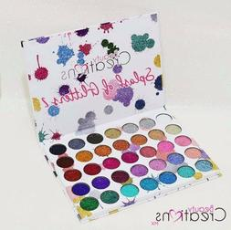 Splash of glitter #2  BEAUTY CREATIONS 35 colors palette eye