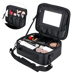 Makeup Organizer Cosmetic Bag with Removable Mirror, TOPOINT
