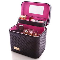 Sooyee Professional Makeup Train Case with Mirror - Cosmetic