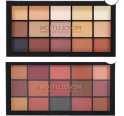 Two Makeup Revolution Re-loaded Eyeshadow Palettes - Basic M