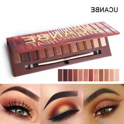 UCANBE 12 Colors Molten Rock Heat Eye Shadow Shimmer Matte M