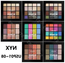NYX ULTIMATE  SHADOW PALETTE USP01~08