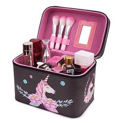 Unicorn Travel makeup organizer Train Case Cosmetic Storage